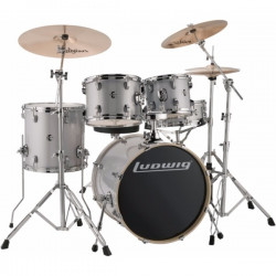 Ludwig Element Evolution Fusion  - Silver White Sparkle