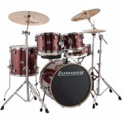 Ludwig Element Evolution Fusion - Red Sparkle